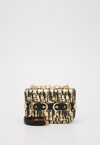 Versace Jeans Couture - BUCKLE DETAIL FLAP SHOULDER - Torba na ramię - oro - 0
