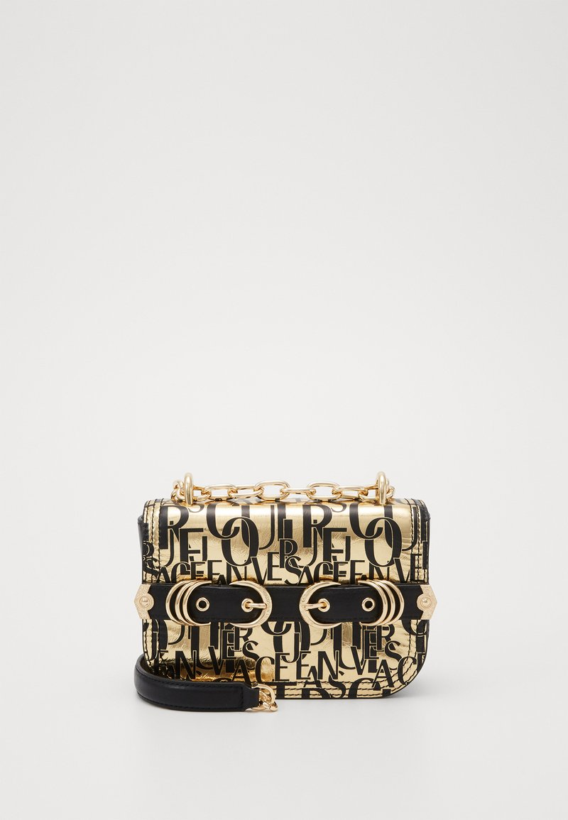 Versace Jeans Couture - BUCKLE DETAIL FLAP SHOULDER - Torba na ramię - oro