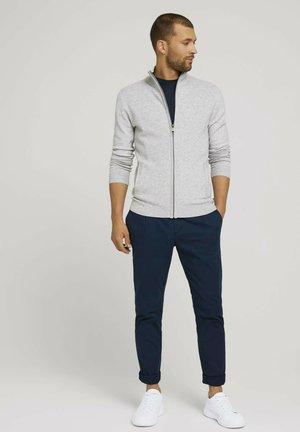 MIT STEHKRAGEN - Zip-up sweatshirt - light soft grey melange