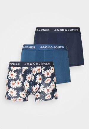 JACFLOWER TRUNKS 3 PACK - Underkläder - ensign blue/navy blazer/navy blazer