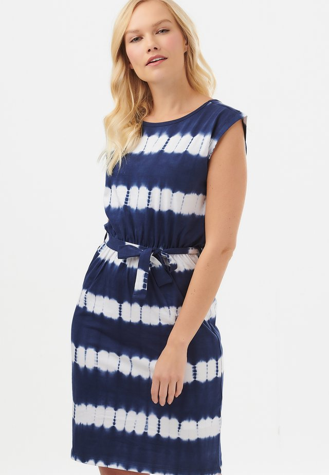 HETTY TIE DYE MARINE STRIPE - Day dress - navy