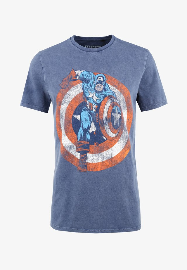 MARVEL CAPTAIN AMERICA - T-shirt print - blau