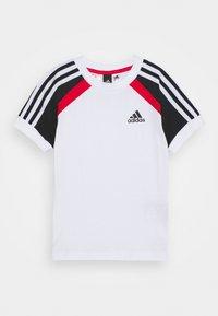 adidas Performance - BOLD TEE - T-shirt print - white/black - 0