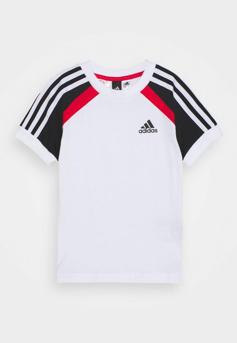 adidas Performance - BOLD TEE - T-shirt print - white/black