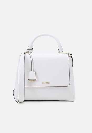 FLAP TOP - Handbag - white