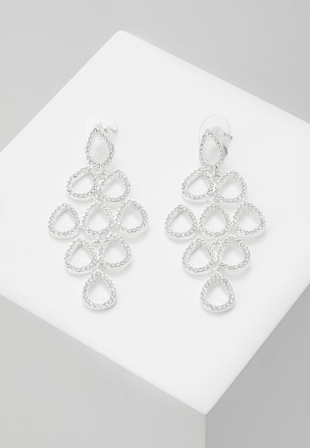 CIEL BIG PENDANT EAR - Earrings - silver-coloured