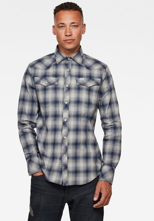 3301 SLIM LONG SLEEVE - Camicia - imperial blue jack check