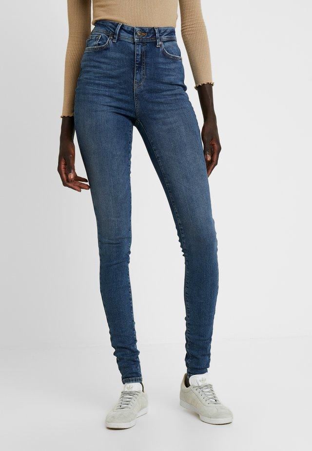 NMVICKY - Jeans Skinny Fit - dark blue denim