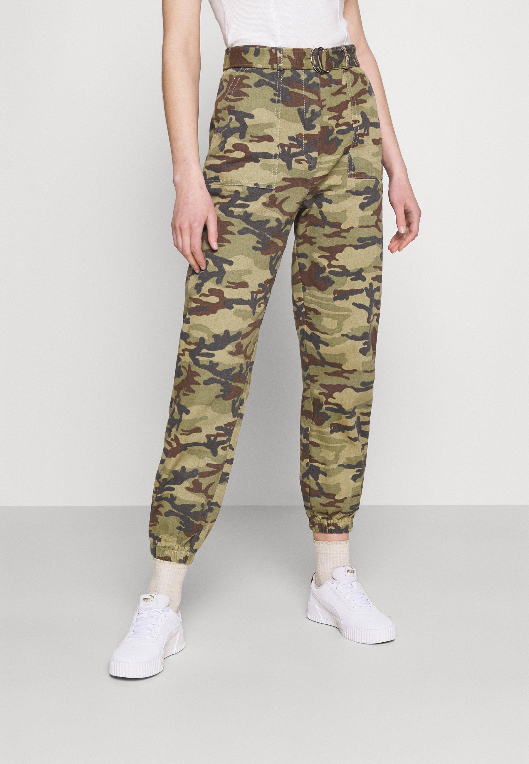 Femme RING BELT TROUSER - Pantalon classique