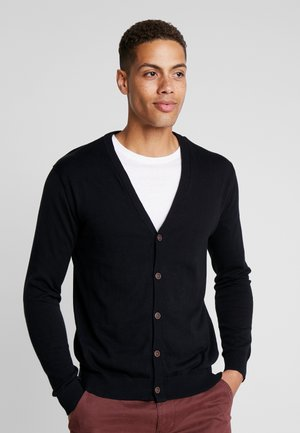 BUTTON CARD - Cardigan - black