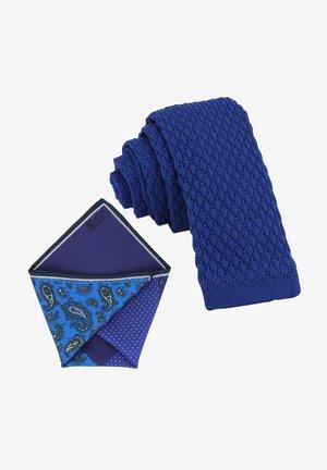 CRAVATTA MAGLIA & ARTEQUATTRO SET - Pocket square - royal blau   capriblau moos grün paisley