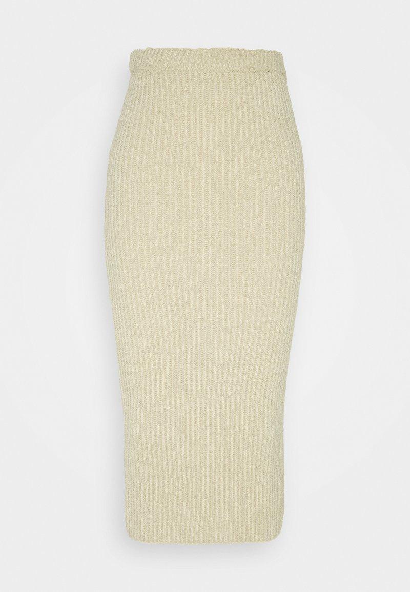 Glamorous Tall - FLUFFLY MIDI SKIRT - Pencil skirt - oatmeal