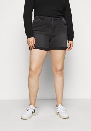 MOM SHORTS - Jeansshorts - black