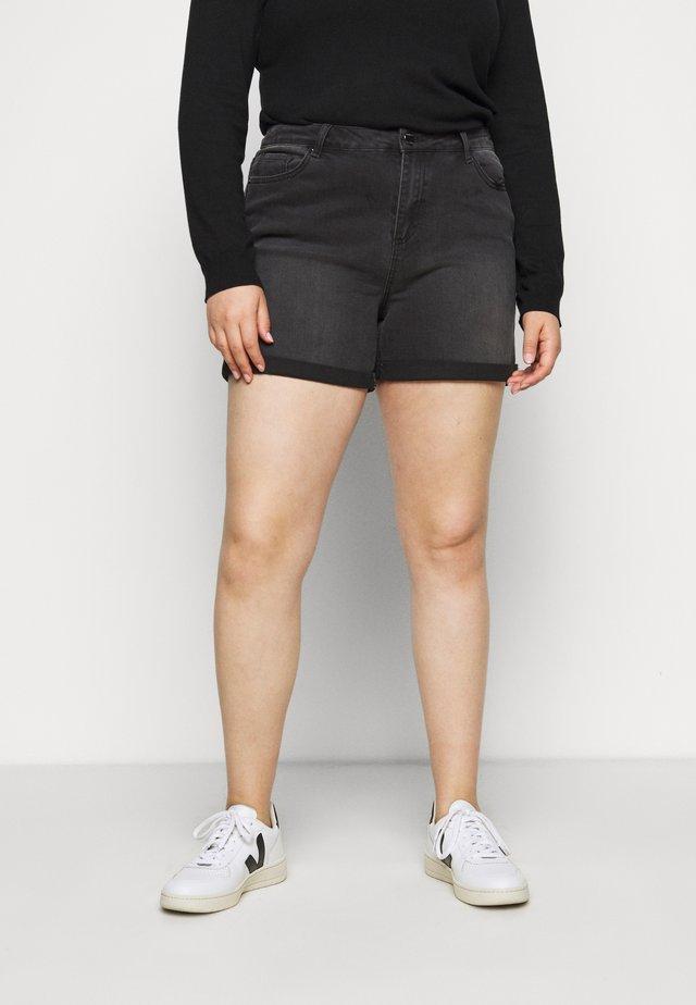 MOM SHORTS - Shorts vaqueros - black