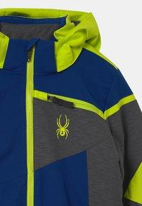 Spyder - CHALLENGER - Ski jacket - dark grey/neon green/blue - 3