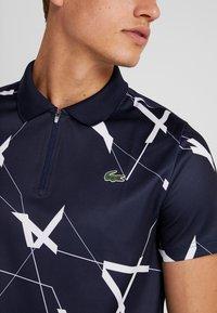Lacoste Sport - TENNIS GRAPHIC - Piké - navy blue/white - 3