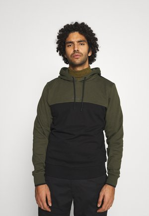 COLOR BLOCK HOODIE - Sweat à capuche - green