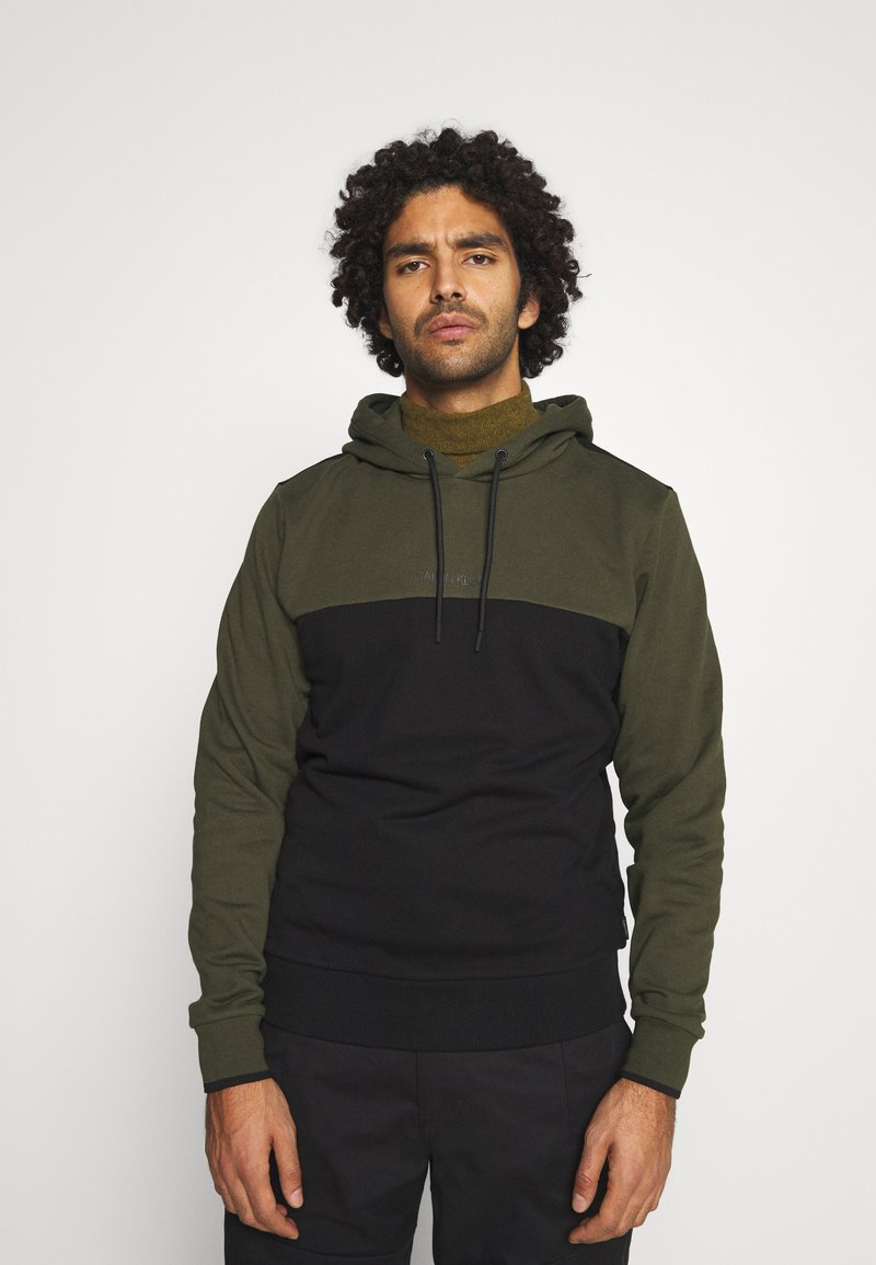 Calvin Klein - COLOR BLOCK HOODIE - Sweat à capuche - green