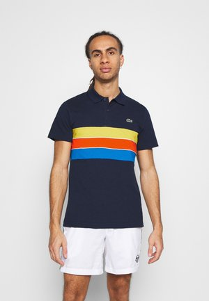 RAINBOW STRIPES - Polo - bleu marine/bleu/rouge/jaune/blanc