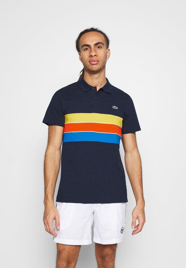 RAINBOW STRIPES - Polo - bleu marine/bleu/rouge/jaune/blanc