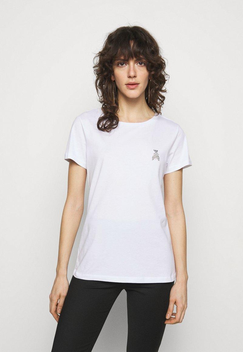 Patrizia Pepe - MAGLIA - T-shirt imprimé - bianco ottico