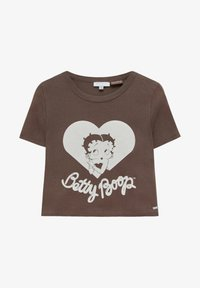 PULL&BEAR - BETTY BOOP  - Print T-shirt - brown - 4