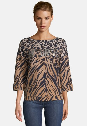 Sweatshirt - camel dark blue