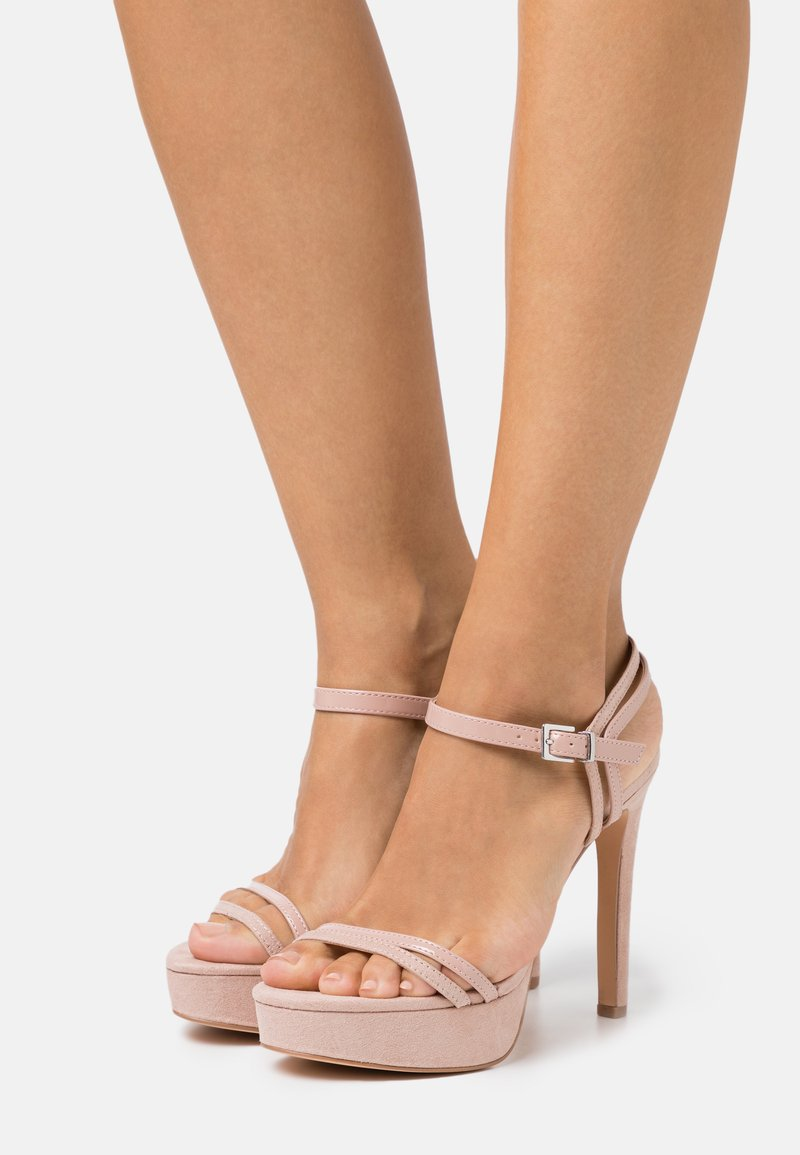 Even&Odd Wide Fit - High heeled sandals - nude