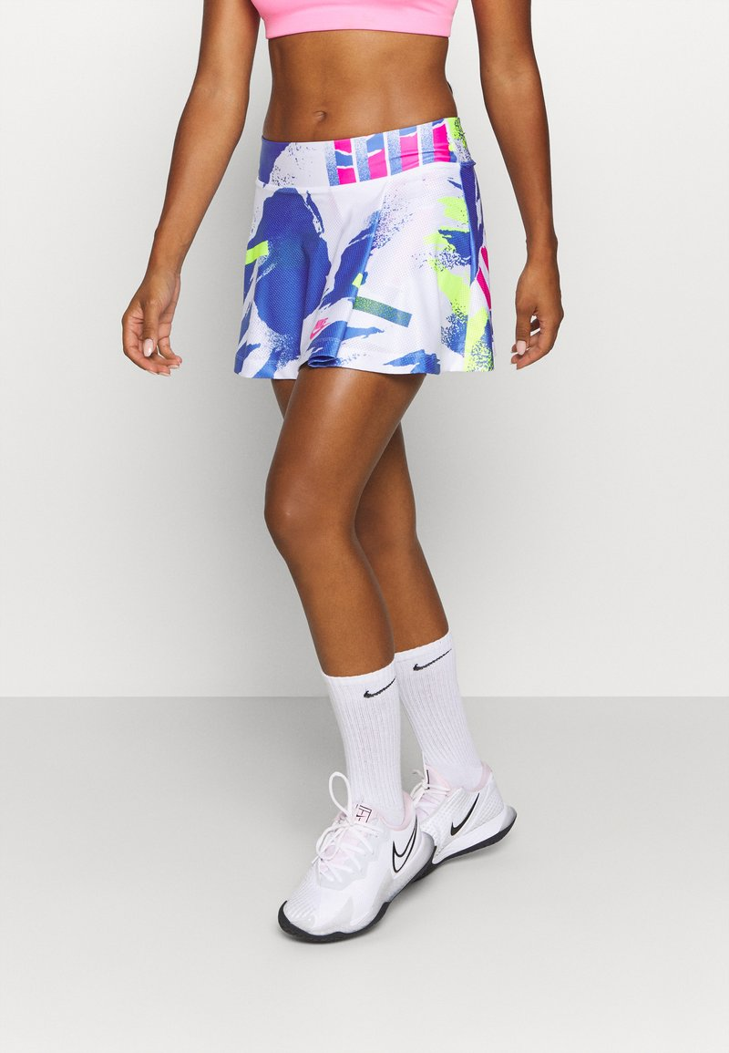 Nike Performance - SLAM SKIRT - Sports skirt - white/sapphire/hot lime/pink foil