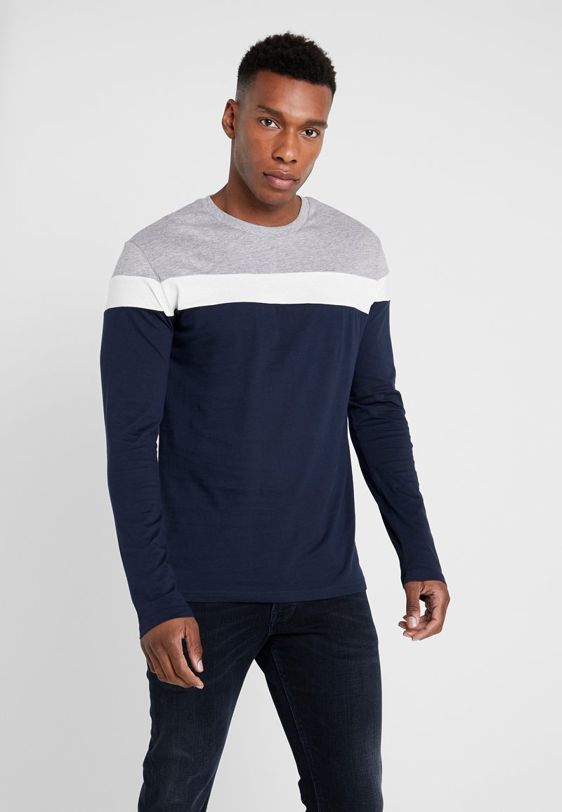 Pier One - Longsleeve - grey/dark blue