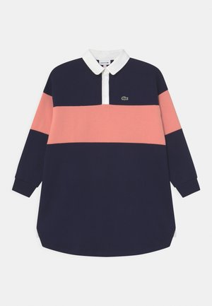 Jersey dress - navy blue/elf pink
