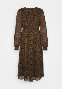 Vero Moda - VMSIFFY O NECK SMOCK CALF DRESS - Day dress - coffee liqueúr - 4