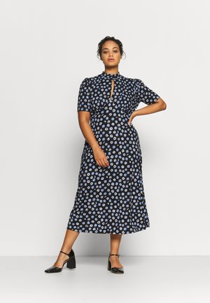 MIDI DRESS - Jersey dress - navy