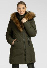 Apart - Winter coat - khaki - 0