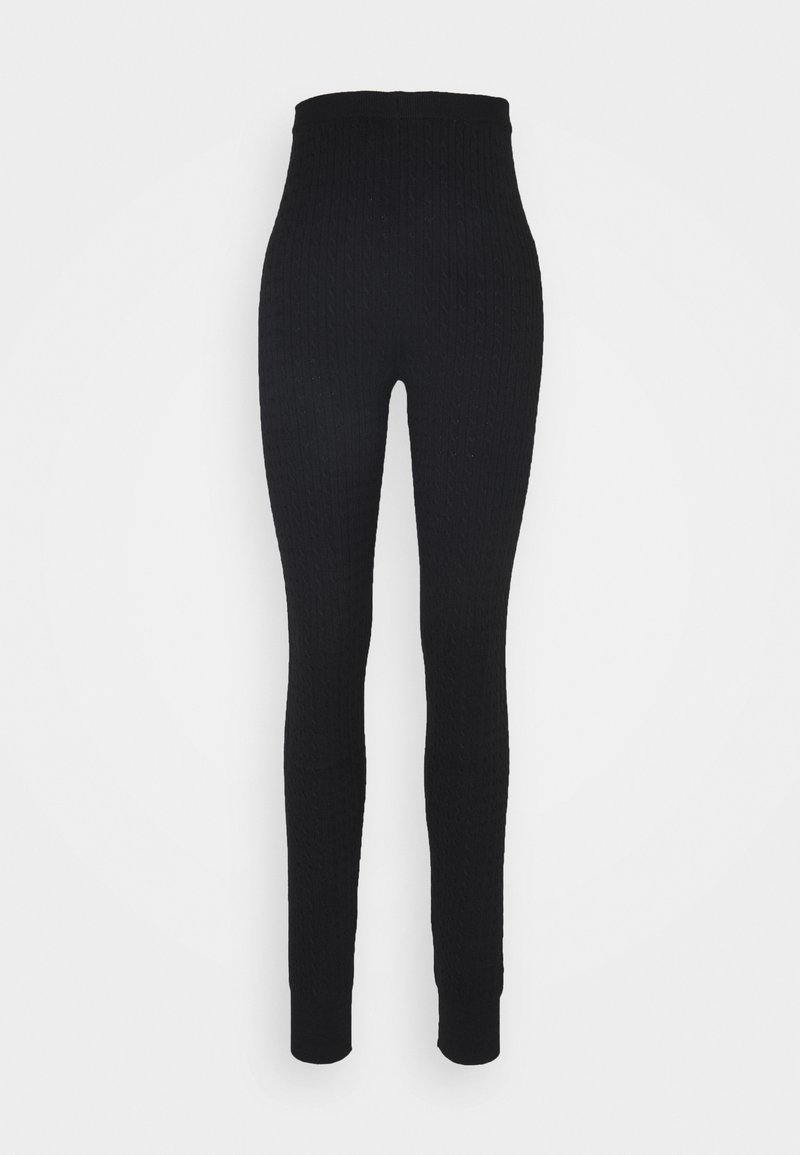 Even&Odd Tall - cable knitted leggings - Leggings - Trousers - black