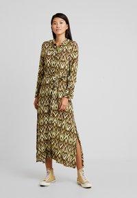 Topshop - OPEN BACK DRESS - Day dress - green - 0