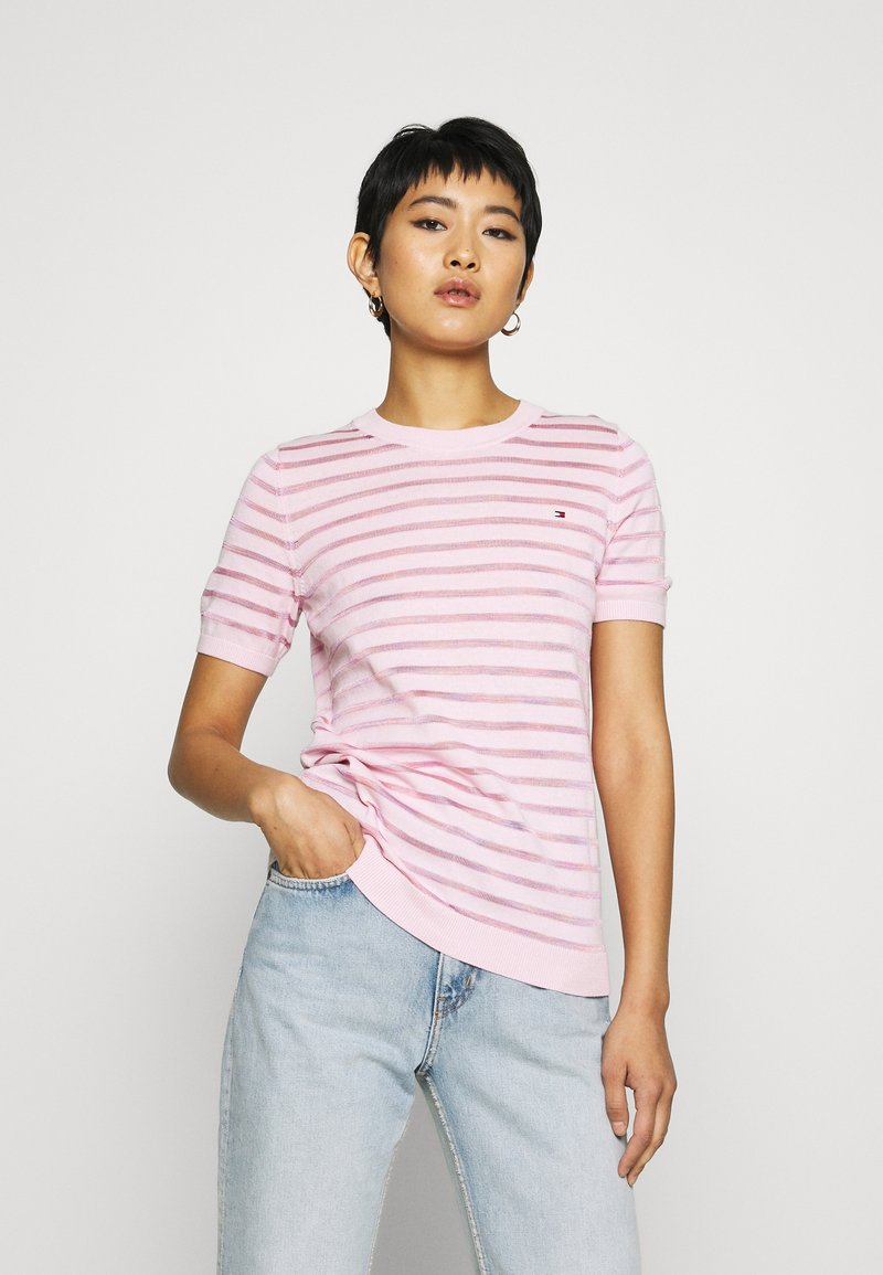 Tommy Hilfiger - BALLOU - Print T-shirt - frosted pink