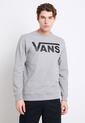 CLASSIC CREW - Sweatshirt - cement heather-black