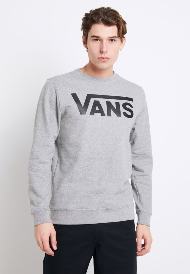 CLASSIC CREW - Sweatshirt - cement heather-black