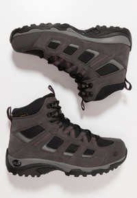 Jack Wolfskin - VOJO HIKE 2 TEXAPORE MID - Hiking shoes - dark steel/black - 1