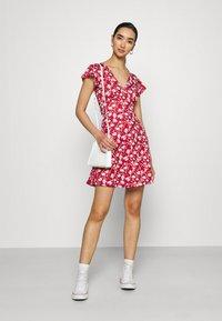 Even&Odd - Jersey dress - red/white - 1