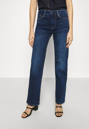 AUBREY - Flared Jeans - dark-blue denim