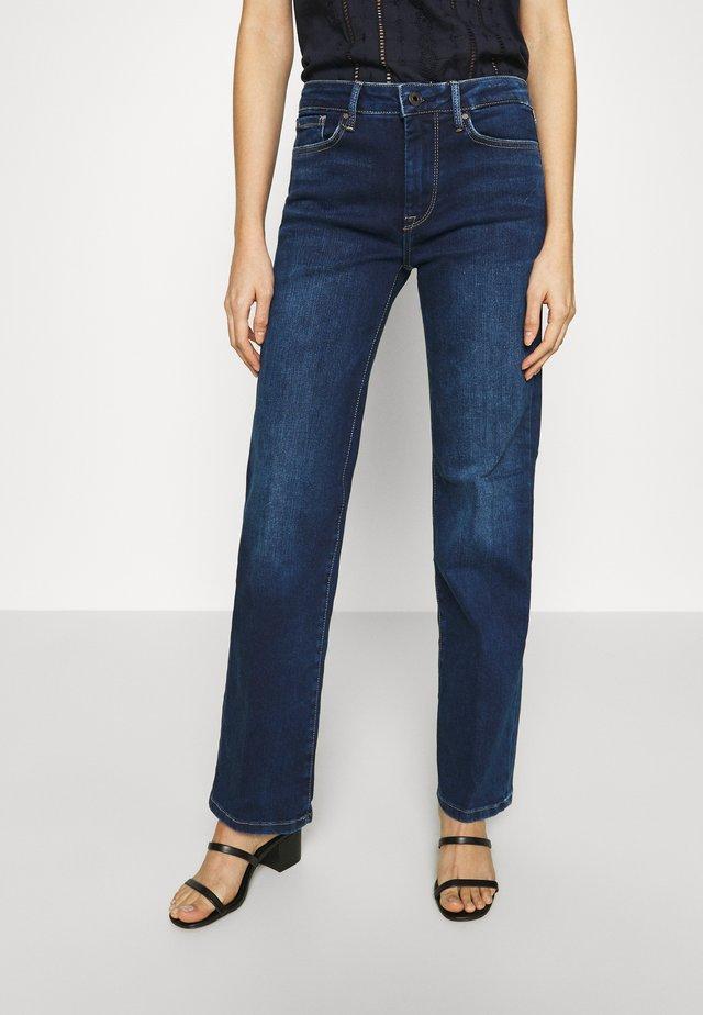 AUBREY - Jeans a zampa - dark-blue denim