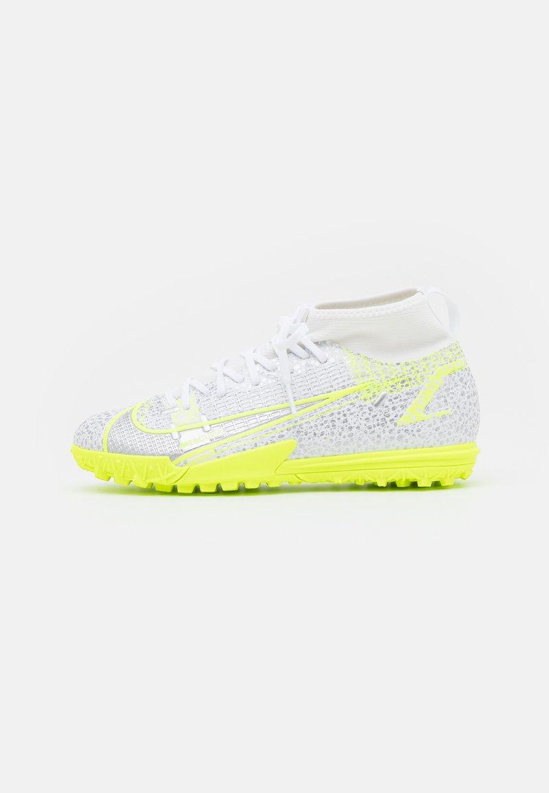 Nike Performance - MERCURIAL 8 ACADEMY TF UNISEX - Astro turf trainers - white/black/metallic silver/volt