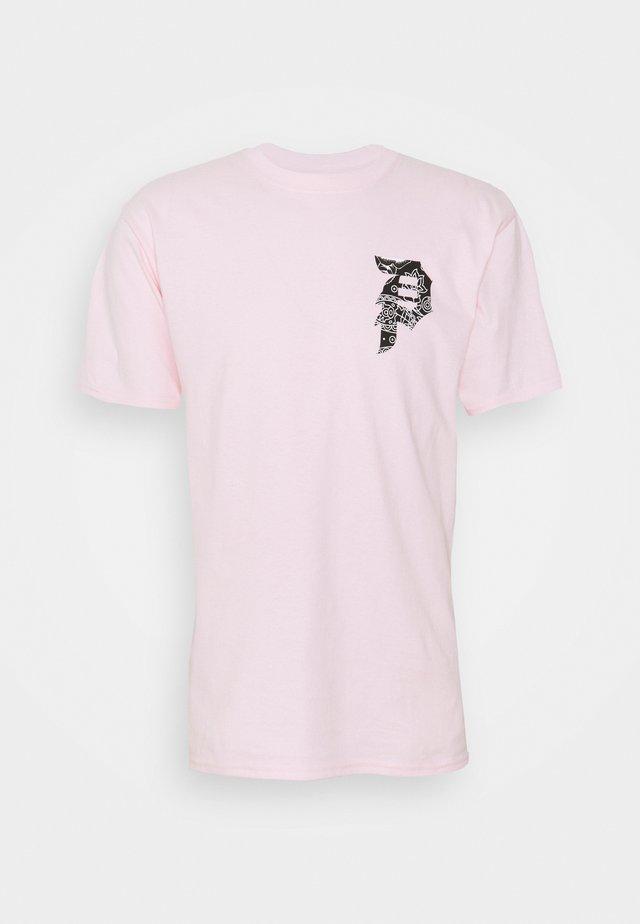 DIRTY PAISLEY TEE - T-shirt imprimé - pink