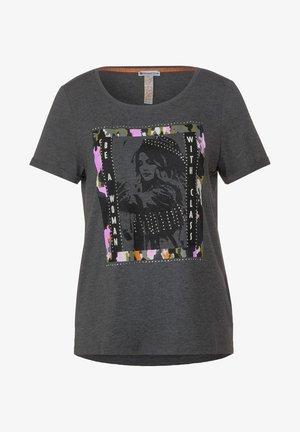 MIT FRONTPRINT - Print T-shirt - grau