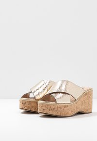 River Island - Heeled mules - gold - 4