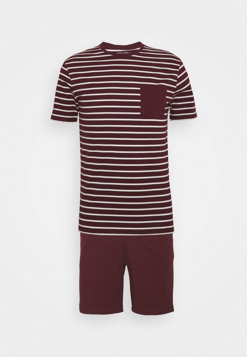 Pier One - Pyjamas - bordeaux/white