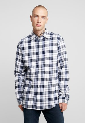 ONS CHECK SHIRT - Shirt - white