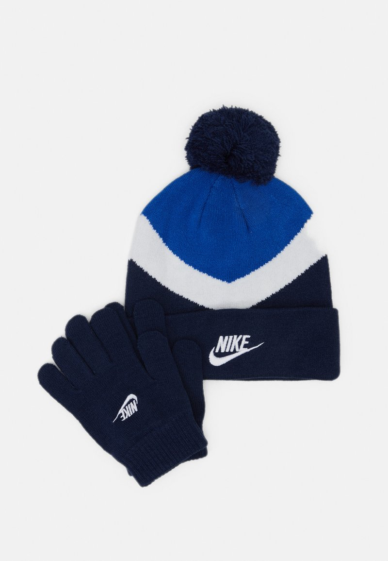 Nike Sportswear - BLOCKED BEANIE GLOVE SET - Čepice - game royal